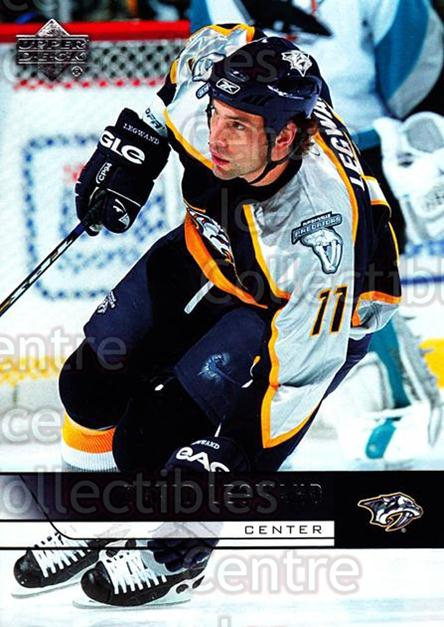 2006-07 Upper Deck #109 David Legwand<br/>12 In Stock - $1.00 each - <a href=https://centericecollectibles.foxycart.com/cart?name=2006-07%20Upper%20Deck%20%23109%20David%20Legwand...&quantity_max=12&price=$1.00&code=204608 class=foxycart> Buy it now! </a>