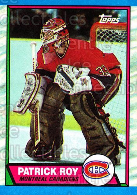 1989-90 Topps #17 Patrick Roy<br/>22 In Stock - $3.00 each - <a href=https://centericecollectibles.foxycart.com/cart?name=1989-90%20Topps%20%2317%20Patrick%20Roy...&quantity_max=22&price=$3.00&code=20463 class=foxycart> Buy it now! </a>