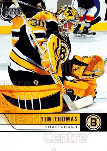 2006-07 Upper Deck #17 Tim Thomas<br/>10 In Stock - $1.00 each - <a href=https://centericecollectibles.foxycart.com/cart?name=2006-07%20Upper%20Deck%20%2317%20Tim%20Thomas...&quantity_max=10&price=$1.00&code=204661 class=foxycart> Buy it now! </a>
