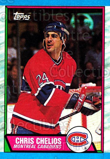 1989-90 Topps #174 Chris Chelios<br/>3 In Stock - $2.00 each - <a href=https://centericecollectibles.foxycart.com/cart?name=1989-90%20Topps%20%23174%20Chris%20Chelios...&quantity_max=3&price=$2.00&code=20468 class=foxycart> Buy it now! </a>