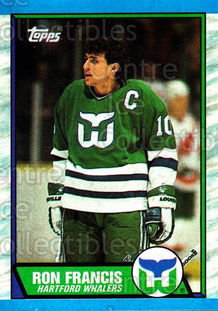 1989-90 Topps #175 Ron Francis<br/>6 In Stock - $2.00 each - <a href=https://centericecollectibles.foxycart.com/cart?name=1989-90%20Topps%20%23175%20Ron%20Francis...&quantity_max=6&price=$2.00&code=20469 class=foxycart> Buy it now! </a>