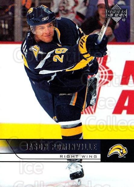 2006-07 Upper Deck #276 Jason Pominville<br/>5 In Stock - $1.00 each - <a href=https://centericecollectibles.foxycart.com/cart?name=2006-07%20Upper%20Deck%20%23276%20Jason%20Pominvill...&quantity_max=5&price=$1.00&code=204716 class=foxycart> Buy it now! </a>