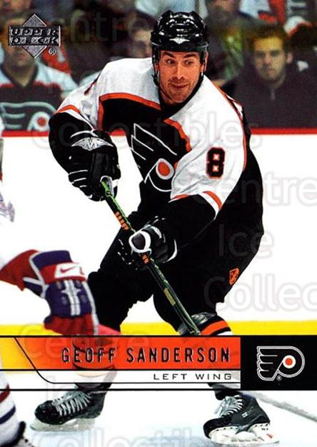 2006-07 Upper Deck #394 Geoff Sanderson<br/>5 In Stock - $1.00 each - <a href=https://centericecollectibles.foxycart.com/cart?name=2006-07%20Upper%20Deck%20%23394%20Geoff%20Sanderson...&quantity_max=5&price=$1.00&code=204808 class=foxycart> Buy it now! </a>