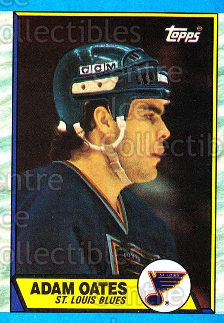 1989-90 Topps #185 Adam Oates<br/>6 In Stock - $2.00 each - <a href=https://centericecollectibles.foxycart.com/cart?name=1989-90%20Topps%20%23185%20Adam%20Oates...&quantity_max=6&price=$2.00&code=20480 class=foxycart> Buy it now! </a>