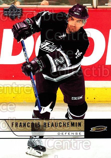 2006-07 Upper Deck #6 Francois Beauchemin<br/>11 In Stock - $1.00 each - <a href=https://centericecollectibles.foxycart.com/cart?name=2006-07%20Upper%20Deck%20%236%20Francois%20Beauch...&quantity_max=11&price=$1.00&code=204876 class=foxycart> Buy it now! </a>
