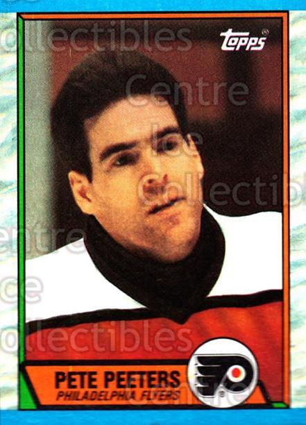 1989-90 Topps #195 Pete Peeters<br/>3 In Stock - $1.00 each - <a href=https://centericecollectibles.foxycart.com/cart?name=1989-90%20Topps%20%23195%20Pete%20Peeters...&quantity_max=3&price=$1.00&code=20490 class=foxycart> Buy it now! </a>