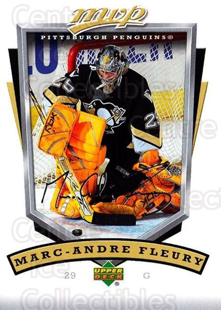 2006-07 Upper Deck MVP #237 Marc-Andre Fleury<br/>2 In Stock - $2.00 each - <a href=https://centericecollectibles.foxycart.com/cart?name=2006-07%20Upper%20Deck%20MVP%20%23237%20Marc-Andre%20Fleu...&quantity_max=2&price=$2.00&code=204921 class=foxycart> Buy it now! </a>