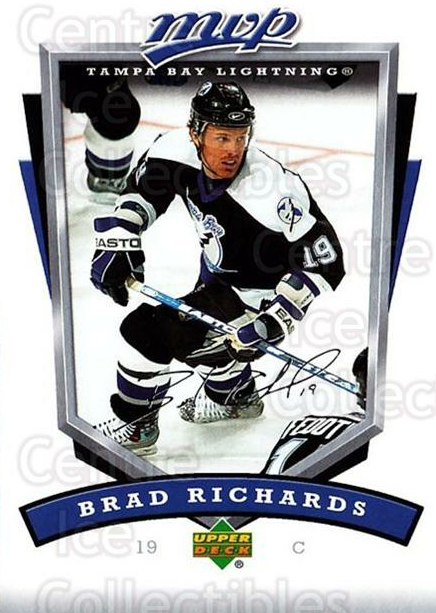 2006-07 Upper Deck MVP #261 Brad Richards<br/>5 In Stock - $1.00 each - <a href=https://centericecollectibles.foxycart.com/cart?name=2006-07%20Upper%20Deck%20MVP%20%23261%20Brad%20Richards...&quantity_max=5&price=$1.00&code=204948 class=foxycart> Buy it now! </a>