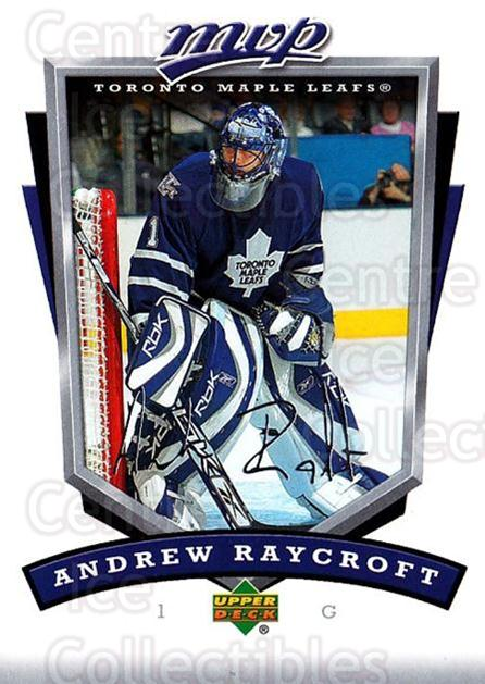 2006-07 Upper Deck MVP #273 Andrew Raycroft<br/>4 In Stock - $1.00 each - <a href=https://centericecollectibles.foxycart.com/cart?name=2006-07%20Upper%20Deck%20MVP%20%23273%20Andrew%20Raycroft...&quantity_max=4&price=$1.00&code=204961 class=foxycart> Buy it now! </a>