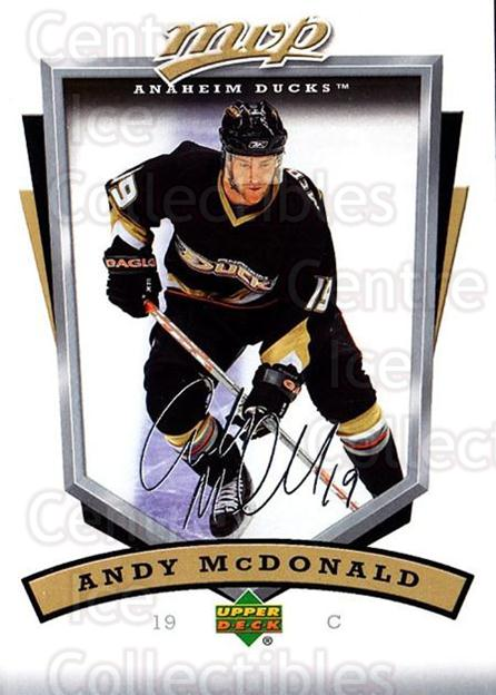2006-07 Upper Deck MVP #3 Andy McDonald<br/>5 In Stock - $1.00 each - <a href=https://centericecollectibles.foxycart.com/cart?name=2006-07%20Upper%20Deck%20MVP%20%233%20Andy%20McDonald...&quantity_max=5&price=$1.00&code=204989 class=foxycart> Buy it now! </a>