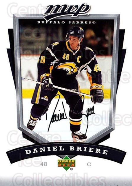 2006-07 Upper Deck MVP #30 Daniel Briere<br/>5 In Stock - $1.00 each - <a href=https://centericecollectibles.foxycart.com/cart?name=2006-07%20Upper%20Deck%20MVP%20%2330%20Daniel%20Briere...&quantity_max=5&price=$1.00&code=204990 class=foxycart> Buy it now! </a>