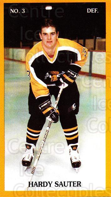 1989-90 Brandon Wheat Kings #7 Hardy Sauter<br/>3 In Stock - $3.00 each - <a href=https://centericecollectibles.foxycart.com/cart?name=1989-90%20Brandon%20Wheat%20Kings%20%237%20Hardy%20Sauter...&quantity_max=3&price=$3.00&code=20502 class=foxycart> Buy it now! </a>
