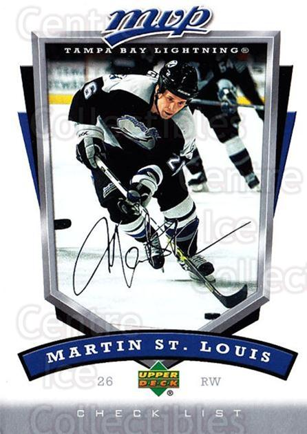 2006-07 Upper Deck MVP #359 Martin St. Louis, Checklist<br/>5 In Stock - $1.00 each - <a href=https://centericecollectibles.foxycart.com/cart?name=2006-07%20Upper%20Deck%20MVP%20%23359%20Martin%20St.%20Loui...&quantity_max=5&price=$1.00&code=205035 class=foxycart> Buy it now! </a>