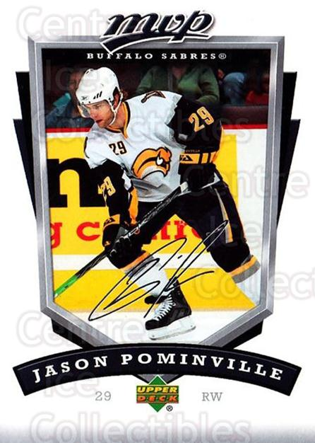 2006-07 Upper Deck MVP #37 Jason Pominville<br/>5 In Stock - $1.00 each - <a href=https://centericecollectibles.foxycart.com/cart?name=2006-07%20Upper%20Deck%20MVP%20%2337%20Jason%20Pominvill...&quantity_max=5&price=$1.00&code=205038 class=foxycart> Buy it now! </a>