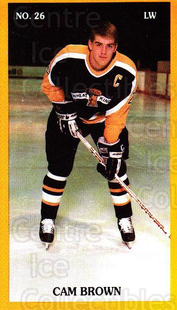 1989-90 Brandon Wheat Kings #8 Cam Brown<br/>1 In Stock - $3.00 each - <a href=https://centericecollectibles.foxycart.com/cart?name=1989-90%20Brandon%20Wheat%20Kings%20%238%20Cam%20Brown...&quantity_max=1&price=$3.00&code=20503 class=foxycart> Buy it now! </a>