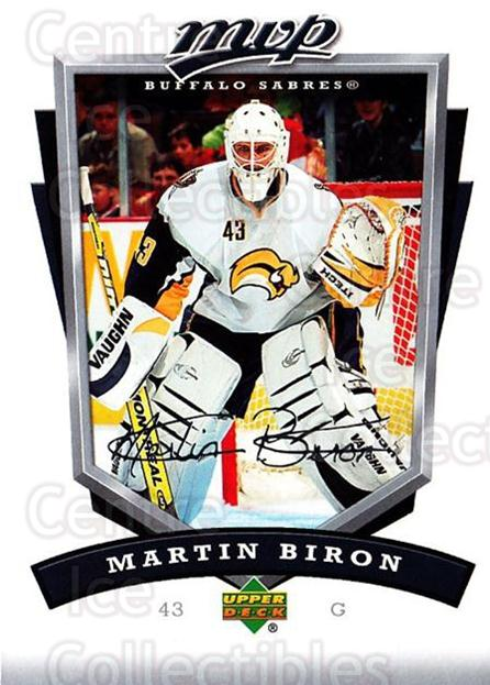 2006-07 Upper Deck MVP #40 Martin Biron<br/>5 In Stock - $1.00 each - <a href=https://centericecollectibles.foxycart.com/cart?name=2006-07%20Upper%20Deck%20MVP%20%2340%20Martin%20Biron...&quantity_max=5&price=$1.00&code=205042 class=foxycart> Buy it now! </a>