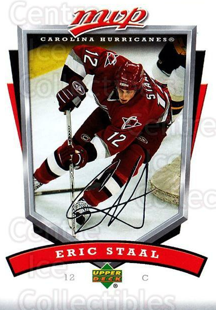 2006-07 Upper Deck MVP #56 Eric Staal<br/>5 In Stock - $1.00 each - <a href=https://centericecollectibles.foxycart.com/cart?name=2006-07%20Upper%20Deck%20MVP%20%2356%20Eric%20Staal...&quantity_max=5&price=$1.00&code=205059 class=foxycart> Buy it now! </a>