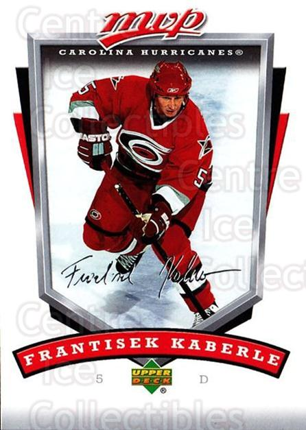 2006-07 Upper Deck MVP #60 Frantisek Kaberle<br/>2 In Stock - $1.00 each - <a href=https://centericecollectibles.foxycart.com/cart?name=2006-07%20Upper%20Deck%20MVP%20%2360%20Frantisek%20Kaber...&quantity_max=2&price=$1.00&code=205064 class=foxycart> Buy it now! </a>