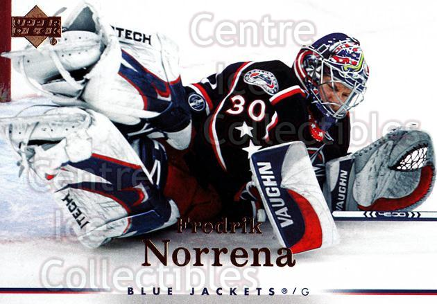 2007-08 Upper Deck #21 Fredrik Norrena<br/>12 In Stock - $1.00 each - <a href=https://centericecollectibles.foxycart.com/cart?name=2007-08%20Upper%20Deck%20%2321%20Fredrik%20Norrena...&quantity_max=12&price=$1.00&code=205401 class=foxycart> Buy it now! </a>
