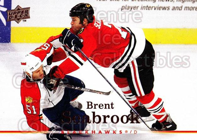 2007-08 Upper Deck #283 Brent Seabrook<br/>12 In Stock - $1.00 each - <a href=https://centericecollectibles.foxycart.com/cart?name=2007-08%20Upper%20Deck%20%23283%20Brent%20Seabrook...&quantity_max=12&price=$1.00&code=205437 class=foxycart> Buy it now! </a>