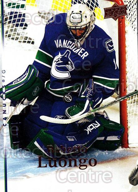 2007-08 Upper Deck #285 Roberto Luongo<br/>11 In Stock - $1.00 each - <a href=https://centericecollectibles.foxycart.com/cart?name=2007-08%20Upper%20Deck%20%23285%20Roberto%20Luongo...&quantity_max=11&price=$1.00&code=205439 class=foxycart> Buy it now! </a>