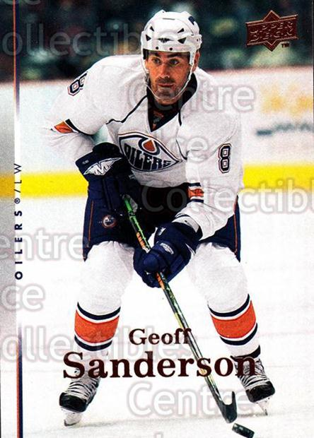 2007-08 Upper Deck #318 Geoff Sanderson<br/>12 In Stock - $1.00 each - <a href=https://centericecollectibles.foxycart.com/cart?name=2007-08%20Upper%20Deck%20%23318%20Geoff%20Sanderson...&quantity_max=12&price=$1.00&code=205475 class=foxycart> Buy it now! </a>