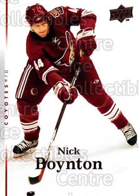 2007-08 Upper Deck #347 Nick Boynton<br/>12 In Stock - $1.00 each - <a href=https://centericecollectibles.foxycart.com/cart?name=2007-08%20Upper%20Deck%20%23347%20Nick%20Boynton...&quantity_max=12&price=$1.00&code=205505 class=foxycart> Buy it now! </a>