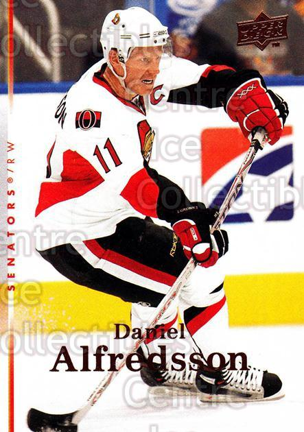 2007-08 Upper Deck #390 Daniel Alfredsson<br/>13 In Stock - $1.00 each - <a href=https://centericecollectibles.foxycart.com/cart?name=2007-08%20Upper%20Deck%20%23390%20Daniel%20Alfredss...&quantity_max=13&price=$1.00&code=205550 class=foxycart> Buy it now! </a>