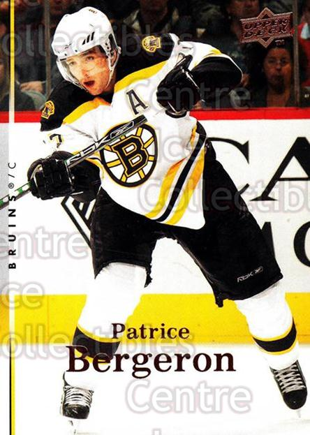 2007-08 Upper Deck #413 Patrice Bergeron<br/>13 In Stock - $2.00 each - <a href=https://centericecollectibles.foxycart.com/cart?name=2007-08%20Upper%20Deck%20%23413%20Patrice%20Bergero...&quantity_max=13&price=$2.00&code=205574 class=foxycart> Buy it now! </a>