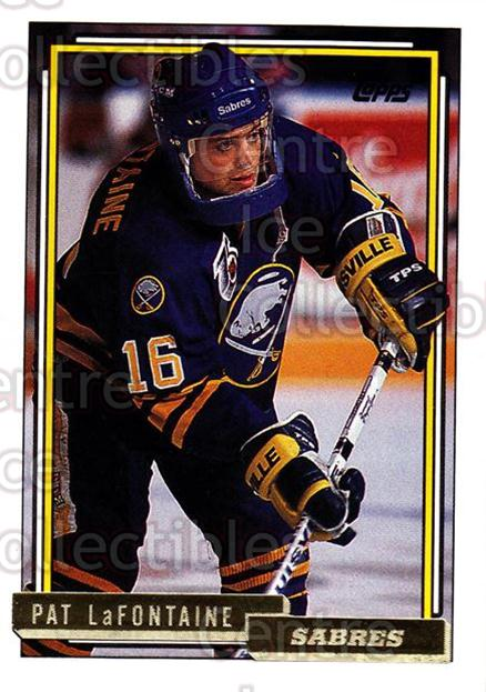1992-93 Topps Gold #345 Pat LaFontaine<br/>8 In Stock - $2.00 each - <a href=https://centericecollectibles.foxycart.com/cart?name=1992-93%20Topps%20Gold%20%23345%20Pat%20LaFontaine...&quantity_max=8&price=$2.00&code=205679 class=foxycart> Buy it now! </a>