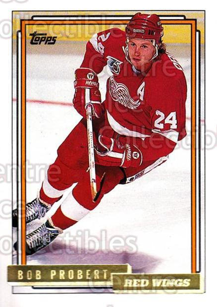 1992-93 Topps Gold #63 Bob Probert<br/>4 In Stock - $2.00 each - <a href=https://centericecollectibles.foxycart.com/cart?name=1992-93%20Topps%20Gold%20%2363%20Bob%20Probert...&quantity_max=4&price=$2.00&code=205687 class=foxycart> Buy it now! </a>