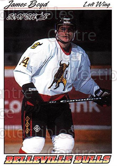 1995-96 Slapshot #43 James Boyd<br/>5 In Stock - $2.00 each - <a href=https://centericecollectibles.foxycart.com/cart?name=1995-96%20Slapshot%20%2343%20James%20Boyd...&price=$2.00&code=205707 class=foxycart> Buy it now! </a>