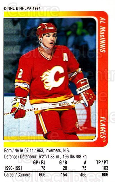 1991-92 Panini Stickers #50 Al MacInnis<br/>7 In Stock - $1.00 each - <a href=https://centericecollectibles.foxycart.com/cart?name=1991-92%20Panini%20Stickers%20%2350%20Al%20MacInnis...&quantity_max=7&price=$1.00&code=205759 class=foxycart> Buy it now! </a>