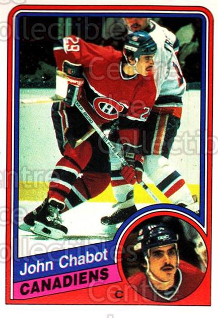 1984-85 O-Pee-Chee #258 John Chabot<br/>4 In Stock - $1.00 each - <a href=https://centericecollectibles.foxycart.com/cart?name=1984-85%20O-Pee-Chee%20%23258%20John%20Chabot...&quantity_max=4&price=$1.00&code=205765 class=foxycart> Buy it now! </a>