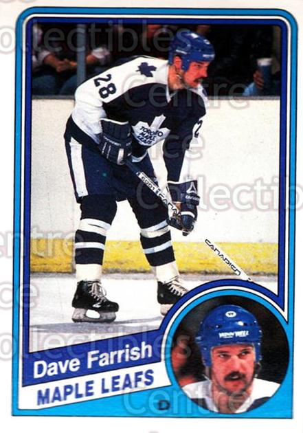 1984-85 O-Pee-Chee #301 Dave Farrish<br/>10 In Stock - $1.00 each - <a href=https://centericecollectibles.foxycart.com/cart?name=1984-85%20O-Pee-Chee%20%23301%20Dave%20Farrish...&quantity_max=10&price=$1.00&code=205771 class=foxycart> Buy it now! </a>
