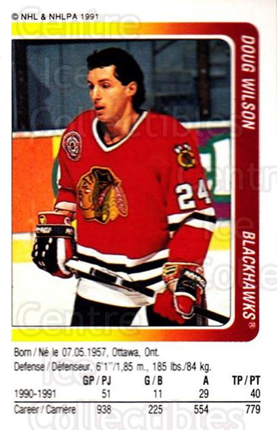 1991-92 Panini Stickers #18 Doug Wilson<br/>7 In Stock - $1.00 each - <a href=https://centericecollectibles.foxycart.com/cart?name=1991-92%20Panini%20Stickers%20%2318%20Doug%20Wilson...&quantity_max=7&price=$1.00&code=205772 class=foxycart> Buy it now! </a>