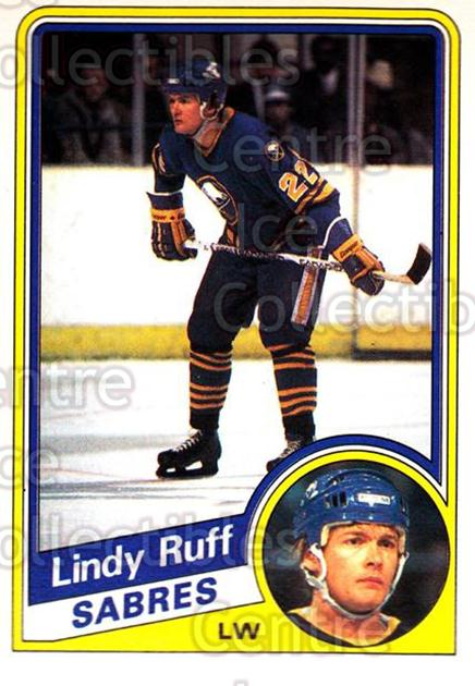 1984-85 O-Pee-Chee #29 Lindy Ruff<br/>7 In Stock - $1.00 each - <a href=https://centericecollectibles.foxycart.com/cart?name=1984-85%20O-Pee-Chee%20%2329%20Lindy%20Ruff...&quantity_max=7&price=$1.00&code=205776 class=foxycart> Buy it now! </a>