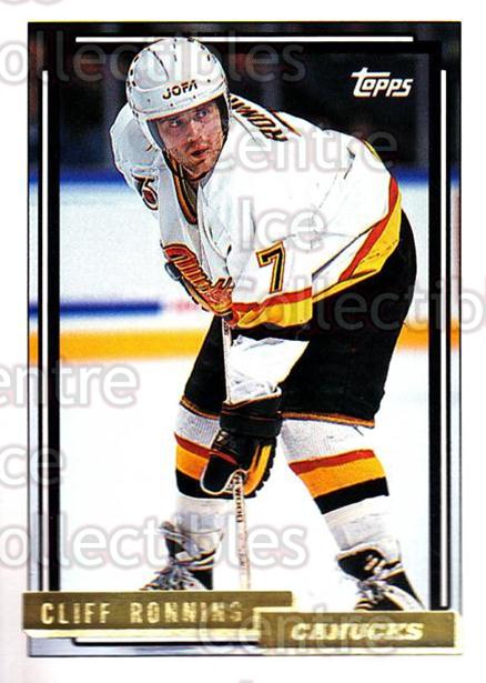 1992-93 Topps Gold #81 Cliff Ronning<br/>8 In Stock - $2.00 each - <a href=https://centericecollectibles.foxycart.com/cart?name=1992-93%20Topps%20Gold%20%2381%20Cliff%20Ronning...&quantity_max=8&price=$2.00&code=205829 class=foxycart> Buy it now! </a>