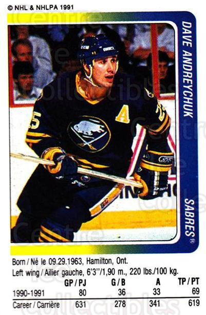 1991-92 Panini Stickers #309 Dave Andreychuk<br/>6 In Stock - $1.00 each - <a href=https://centericecollectibles.foxycart.com/cart?name=1991-92%20Panini%20Stickers%20%23309%20Dave%20Andreychuk...&quantity_max=6&price=$1.00&code=205928 class=foxycart> Buy it now! </a>