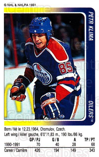 1991-92 Panini Stickers #126 Petr Klima<br/>5 In Stock - $1.00 each - <a href=https://centericecollectibles.foxycart.com/cart?name=1991-92%20Panini%20Stickers%20%23126%20Petr%20Klima...&quantity_max=5&price=$1.00&code=205986 class=foxycart> Buy it now! </a>