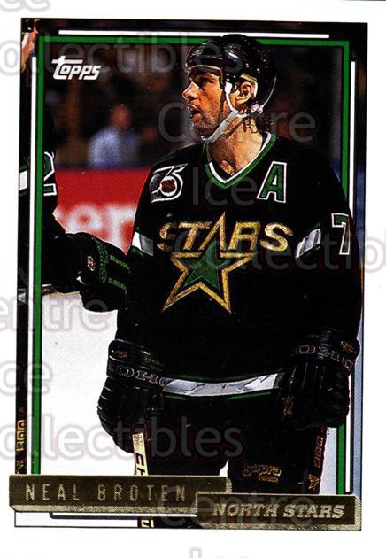 1992-93 Topps Gold #309 Neal Broten<br/>8 In Stock - $2.00 each - <a href=https://centericecollectibles.foxycart.com/cart?name=1992-93%20Topps%20Gold%20%23309%20Neal%20Broten...&quantity_max=8&price=$2.00&code=206041 class=foxycart> Buy it now! </a>