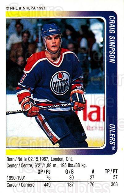 1991-92 Panini Stickers #130 Craig Simpson<br/>7 In Stock - $1.00 each - <a href=https://centericecollectibles.foxycart.com/cart?name=1991-92%20Panini%20Stickers%20%23130%20Craig%20Simpson...&quantity_max=7&price=$1.00&code=206098 class=foxycart> Buy it now! </a>