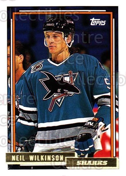 1992-93 Topps Gold #76 Neil Wilkinson<br/>7 In Stock - $2.00 each - <a href=https://centericecollectibles.foxycart.com/cart?name=1992-93%20Topps%20Gold%20%2376%20Neil%20Wilkinson...&quantity_max=7&price=$2.00&code=206120 class=foxycart> Buy it now! </a>