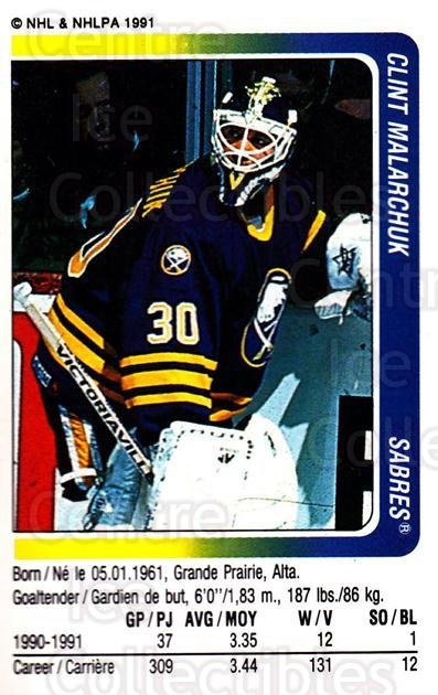 1991-92 Panini Stickers #301 Clint Malarchuk<br/>6 In Stock - $1.00 each - <a href=https://centericecollectibles.foxycart.com/cart?name=1991-92%20Panini%20Stickers%20%23301%20Clint%20Malarchuk...&quantity_max=6&price=$1.00&code=206147 class=foxycart> Buy it now! </a>