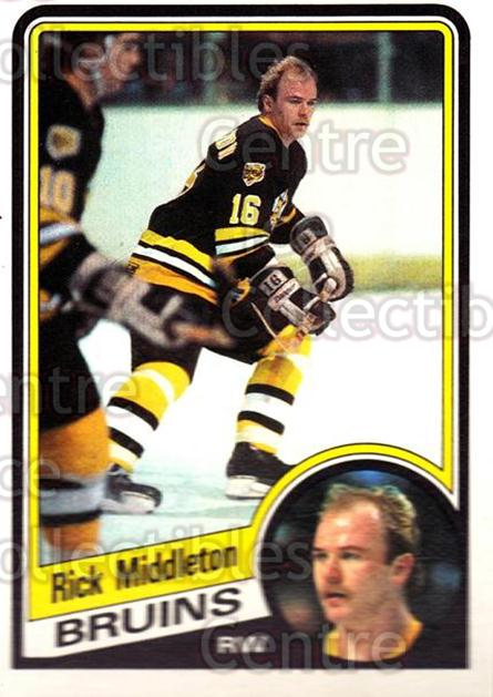 1984-85 O-Pee-Chee #9 Rick Middleton<br/>9 In Stock - $1.00 each - <a href=https://centericecollectibles.foxycart.com/cart?name=1984-85%20O-Pee-Chee%20%239%20Rick%20Middleton...&quantity_max=9&price=$1.00&code=206183 class=foxycart> Buy it now! </a>