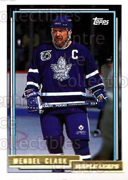 1992-93 Topps Gold #325 Wendel Clark<br/>3 In Stock - $2.00 each - <a href=https://centericecollectibles.foxycart.com/cart?name=1992-93%20Topps%20Gold%20%23325%20Wendel%20Clark...&quantity_max=3&price=$2.00&code=206194 class=foxycart> Buy it now! </a>
