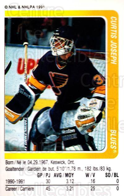 1991-92 Panini Stickers #22 Curtis Joseph<br/>3 In Stock - $1.00 each - <a href=https://centericecollectibles.foxycart.com/cart?name=1991-92%20Panini%20Stickers%20%2322%20Curtis%20Joseph...&quantity_max=3&price=$1.00&code=206198 class=foxycart> Buy it now! </a>