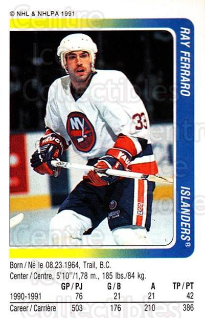 1991-92 Panini Stickers #250 Ray Ferraro<br/>7 In Stock - $1.00 each - <a href=https://centericecollectibles.foxycart.com/cart?name=1991-92%20Panini%20Stickers%20%23250%20Ray%20Ferraro...&quantity_max=7&price=$1.00&code=206204 class=foxycart> Buy it now! </a>