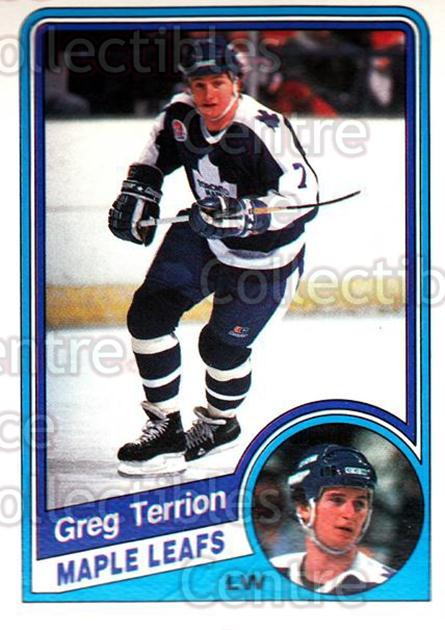 1984-85 O-Pee-Chee #312 Greg Terrion<br/>9 In Stock - $1.00 each - <a href=https://centericecollectibles.foxycart.com/cart?name=1984-85%20O-Pee-Chee%20%23312%20Greg%20Terrion...&quantity_max=9&price=$1.00&code=206212 class=foxycart> Buy it now! </a>