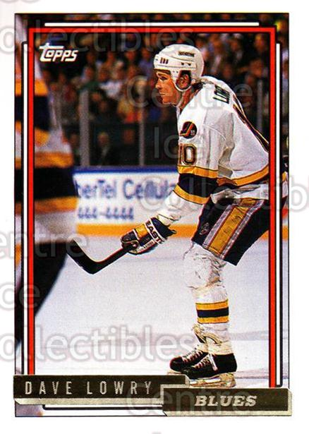 1992-93 Topps Gold #42 Dave Lowry<br/>7 In Stock - $2.00 each - <a href=https://centericecollectibles.foxycart.com/cart?name=1992-93%20Topps%20Gold%20%2342%20Dave%20Lowry...&quantity_max=7&price=$2.00&code=206217 class=foxycart> Buy it now! </a>